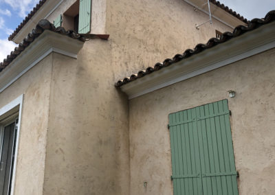 SURELEVATION d'une villa à VALBONNE